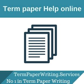 Help with writing a term paper